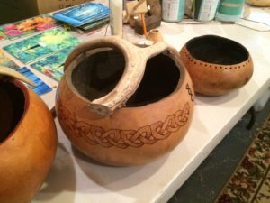 Unfinished gourd